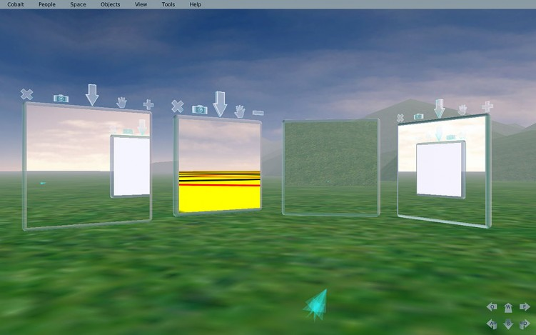 מתוך Open Cobalt 3D, תוכנת קוד פתוח לבנייה של עולמות וירטואליים. תמונה מאת Julian Lombardi. Attribution-ShareAlike 3.0 License