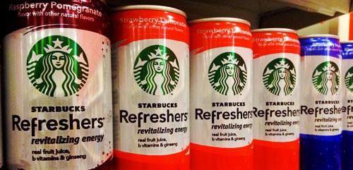 קאצ'וורד נתנה את השם - Starbucks Refreshers
