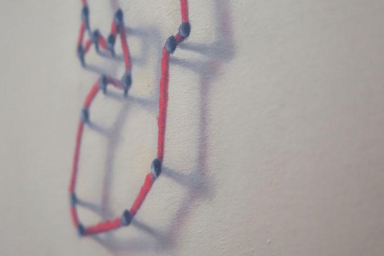 ארז אהרון- גלריה גורדון. שמן על בד.