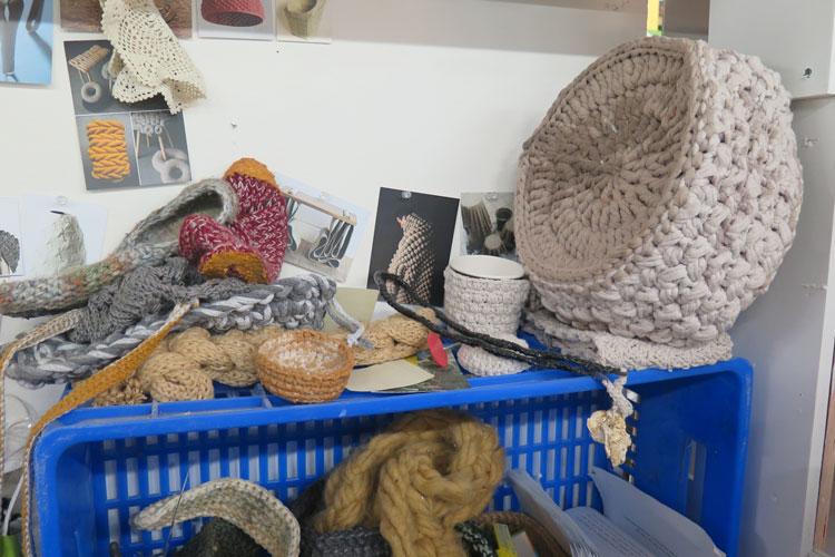 סריגה מוקשחת, הפרויקט של רוי רמתי. צילום: שני הרצברג