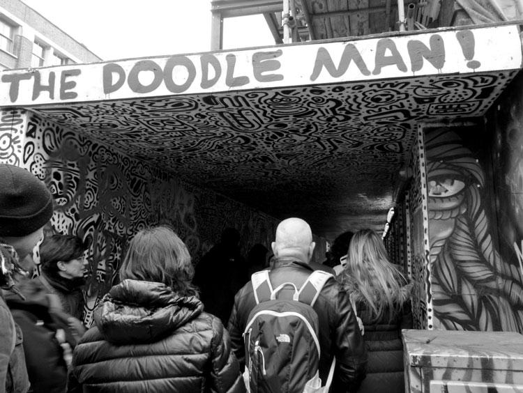 The Doodle Man. צילום: טלי קליפשטיין