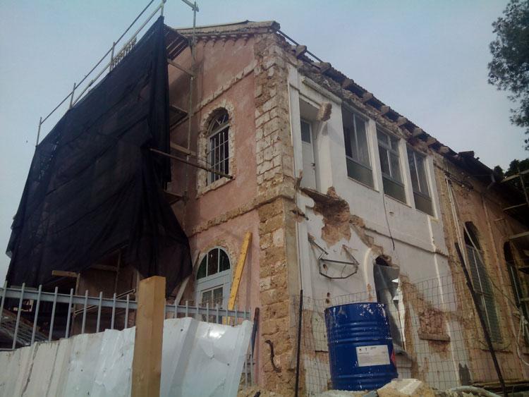 בית הכנסת הגדול ברחובות בתקופת עבודות השימור. צילום: ידידיה איש שלום