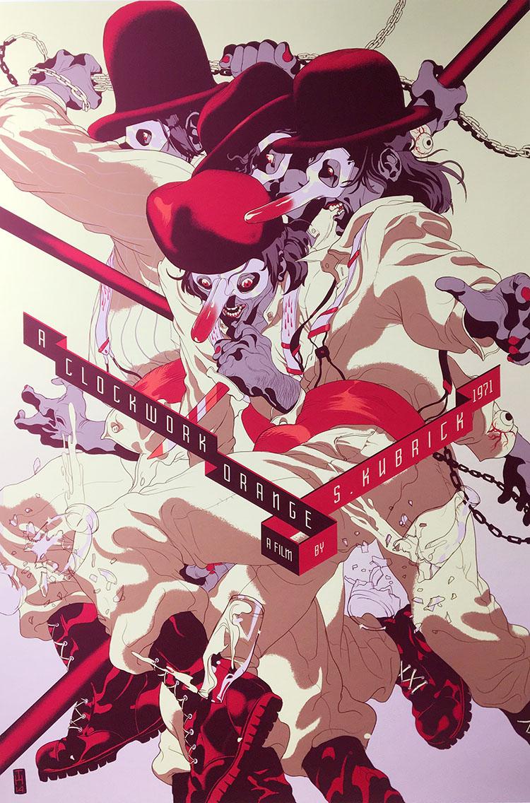 איור מתוך פרוייקט אישי של תומר חנוכה על סרטיו של סטנלי קובריק. צילום: הדס קובו.