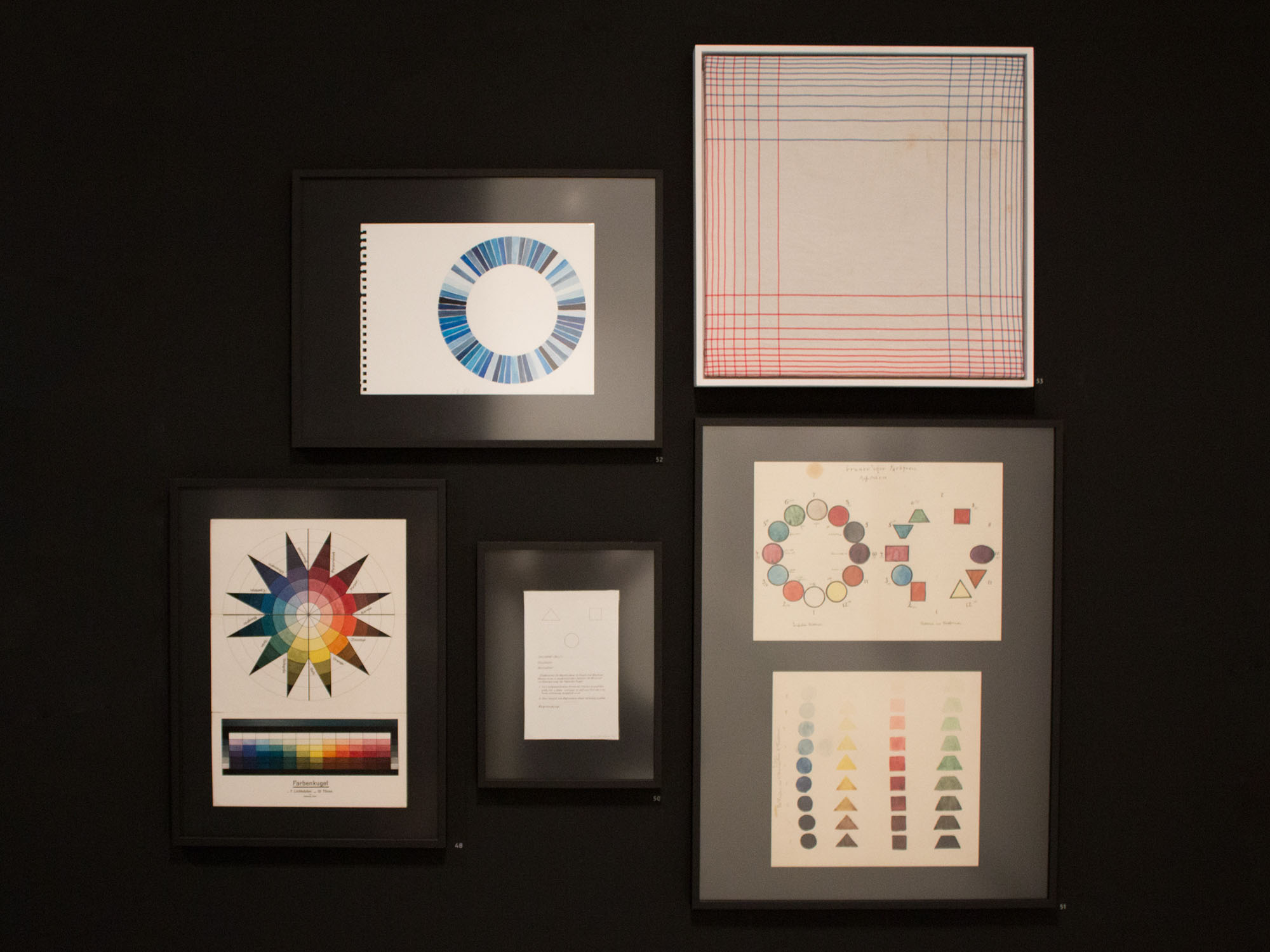 יוהנס איטן - ספירת צבעים בשבעה ערכי אור ו־12, גוונים 1921