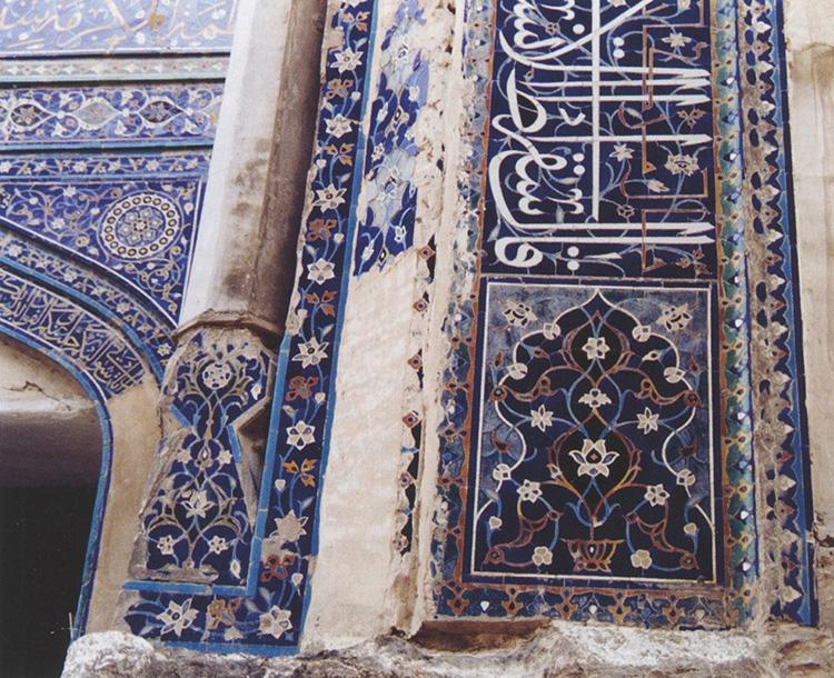 עיטור על קבר שירין ביקה אקה מתקופת ימי הביניים באוזבקיסטן