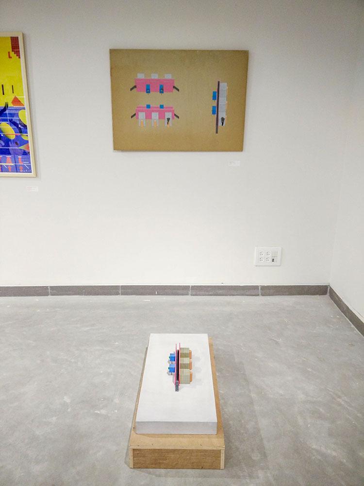 עבודה מתוך תערוכת יחיד בגלריה דוגית. בילו בליך, 1980. צילום: אדם אסרף.