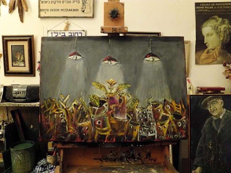ברגנר, ציור חפצים - על קן הציור
