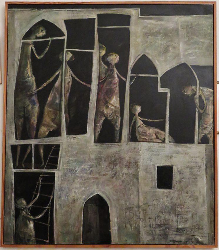ציור על הקיר בסטודיו של ברגנר