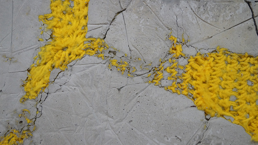 ליגל סופר, meter square 20, בטון, צמר ורשת ברזל. צילום: אריאלה מרטינז