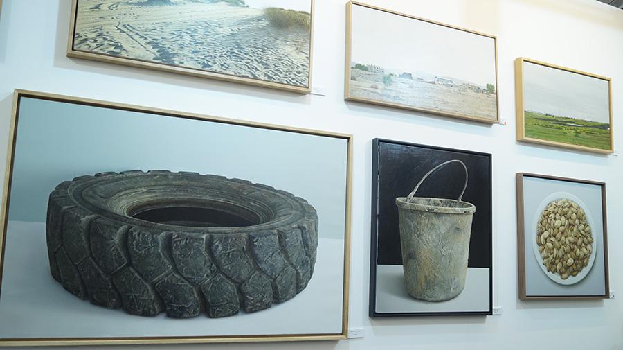 נתן פרניק , סדרת ציורים, שמן על קנווס. צילום: אריאלה מרטינז