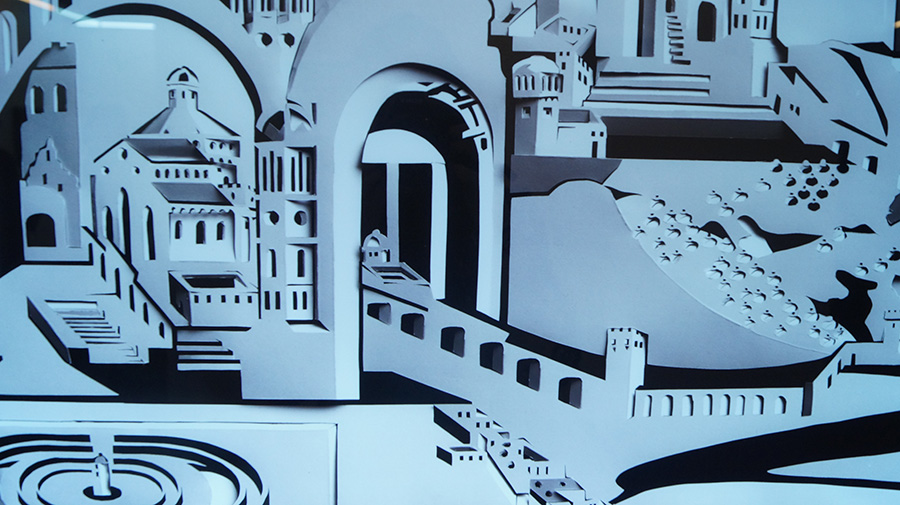 פלג דישון, עיר מקופולי נייר (תקריב). צילום: אריאלה מרטינז