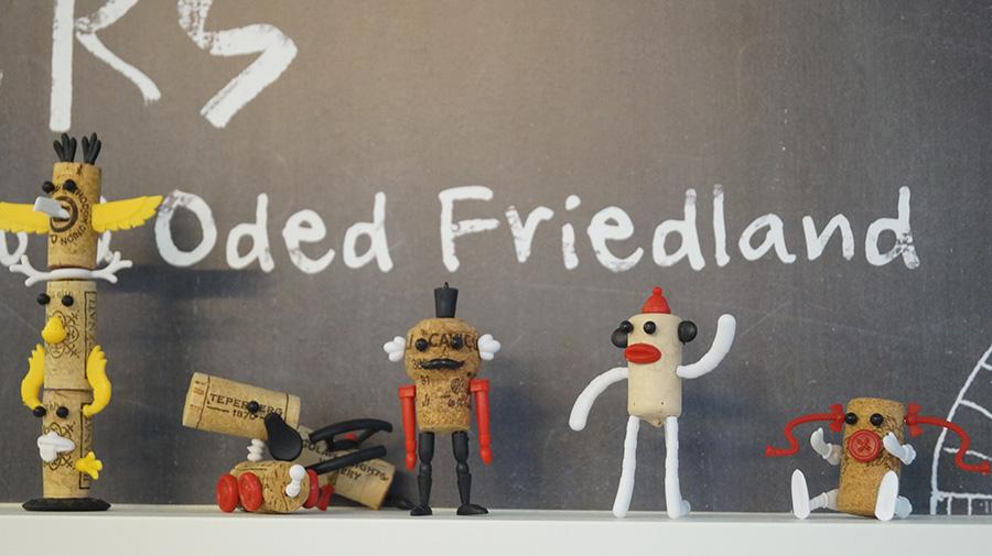 ״corkers״,סדרת יצורים פקקי שעם, עידן פרידמן, נעמה סטיינבוק ועודד פרידלנד. צילום: אריאלה מרטינז