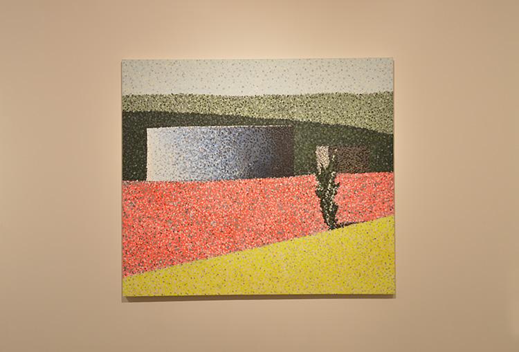 ללא כותרת, חנן שלונסקי, טמפרה שעווה על בד, 2016