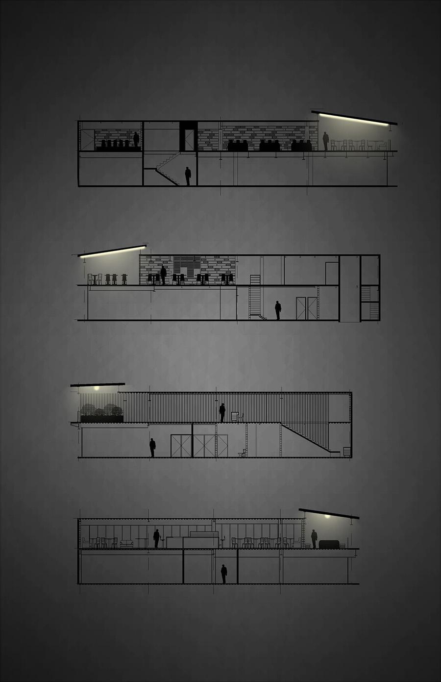 מתוך קורס תאורה - תכנון תאורה למסעדה