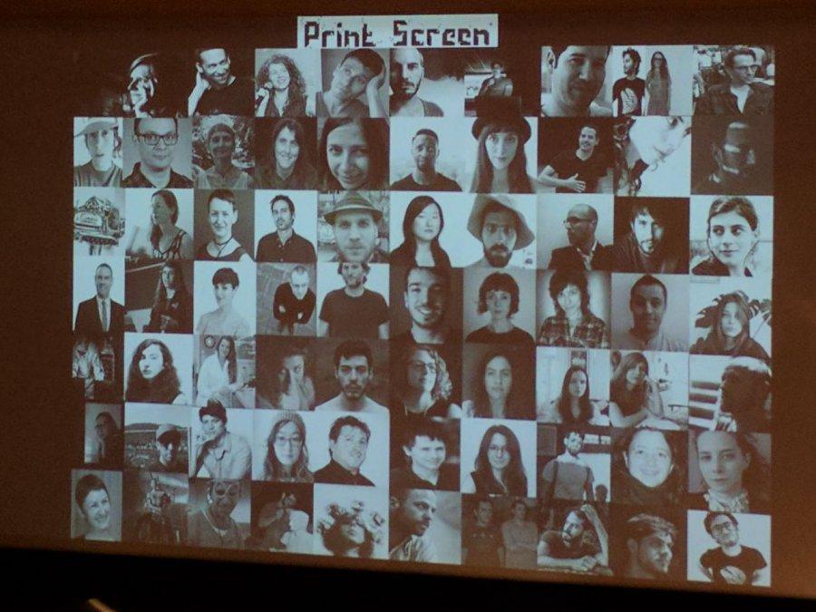 כל משתתפי הפסטיבל, צילום מתוך שקופית בהרצאה. צילום: תומר בלונשינסקי