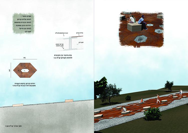 פרזנטצית ״רקמת הפלדה״, הפרויקט הזוכה במקום השלישי. צילום: גיא בן עטר