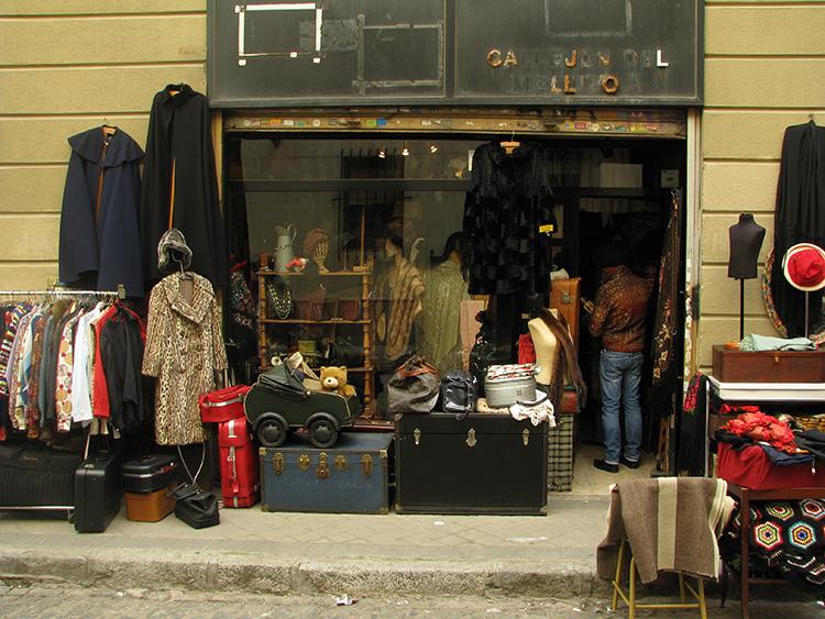 שוק אל ראסטרו, חזית חנות, מדריד