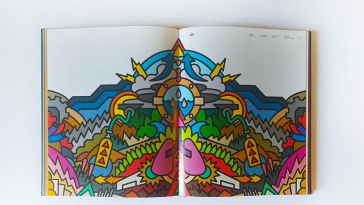 עיצוב של דרפלין לאריזת תקליט.