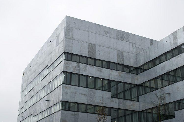 הבניין החדש של הפקולטה לעיצוב של פולקוואנג. Folkwang Universität Der Künste Neubau