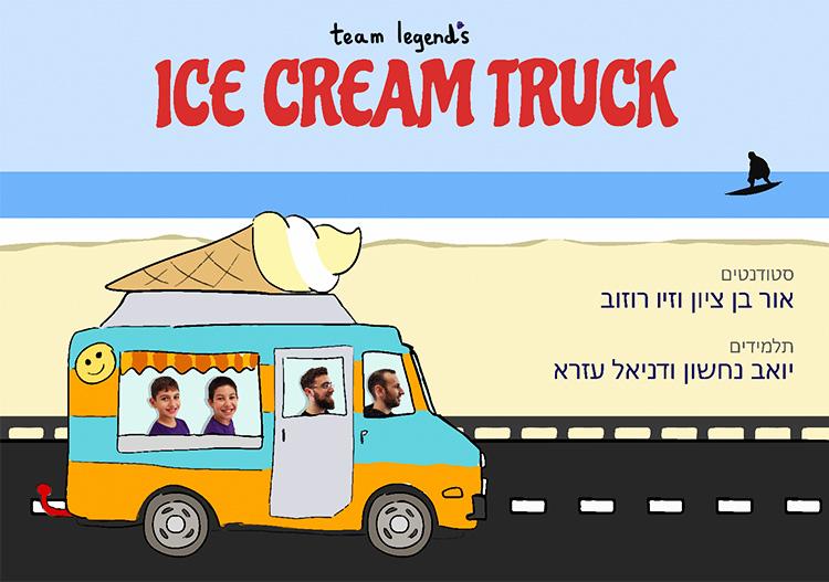 כרזת הפרויקט של צוות 'Ice Cream Truck'