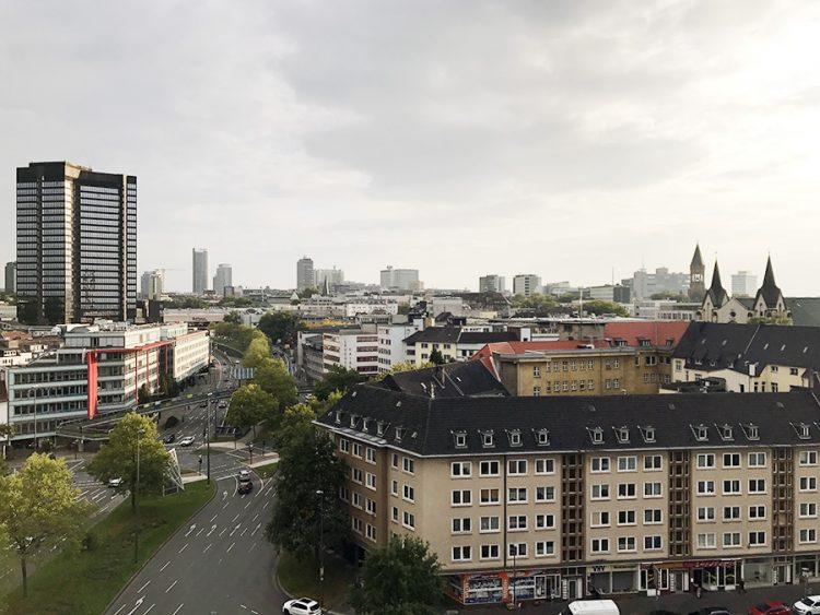 Essen מלמעלה. הנוף מהדירה