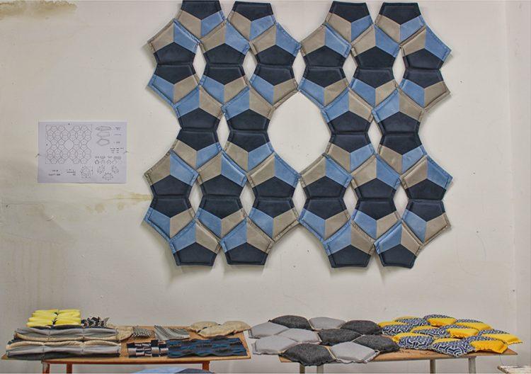 סשה ז׳רקובה: שטיח קיר קטיפתי בצבעים שמשדרים רוגע ושלווה
