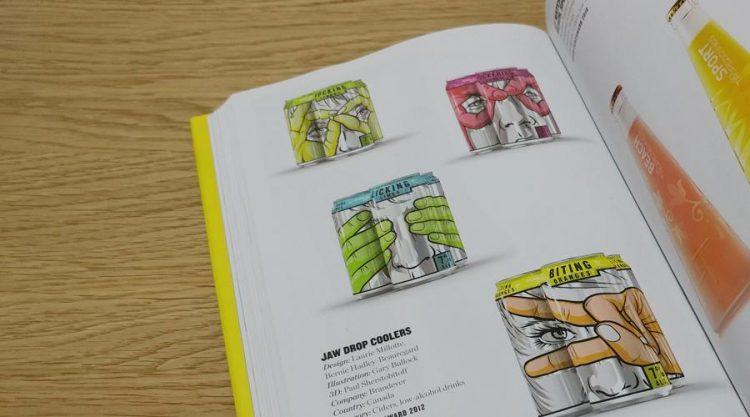 Jaw Drop Coolers. עיצוב סדרת פחיות בהשראת קומיקס