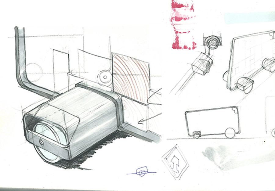סקיצה של מכונית צעצוע