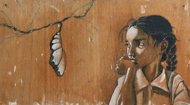 """גן דה לנגה / """"ילדה וגולם"""". באדיבות האמנית."""