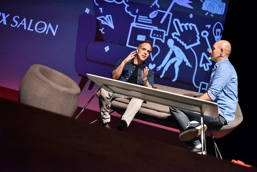 יהונתן לוי וויטלי פרידמן בסלון. צילום: UX Salon