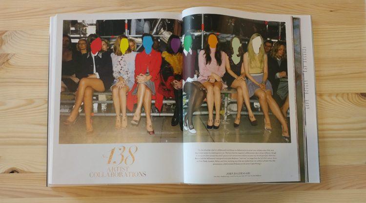 שיתוף פעולה בין הרפרס' באזר לחברת האופנה פראדה. John Baldessari