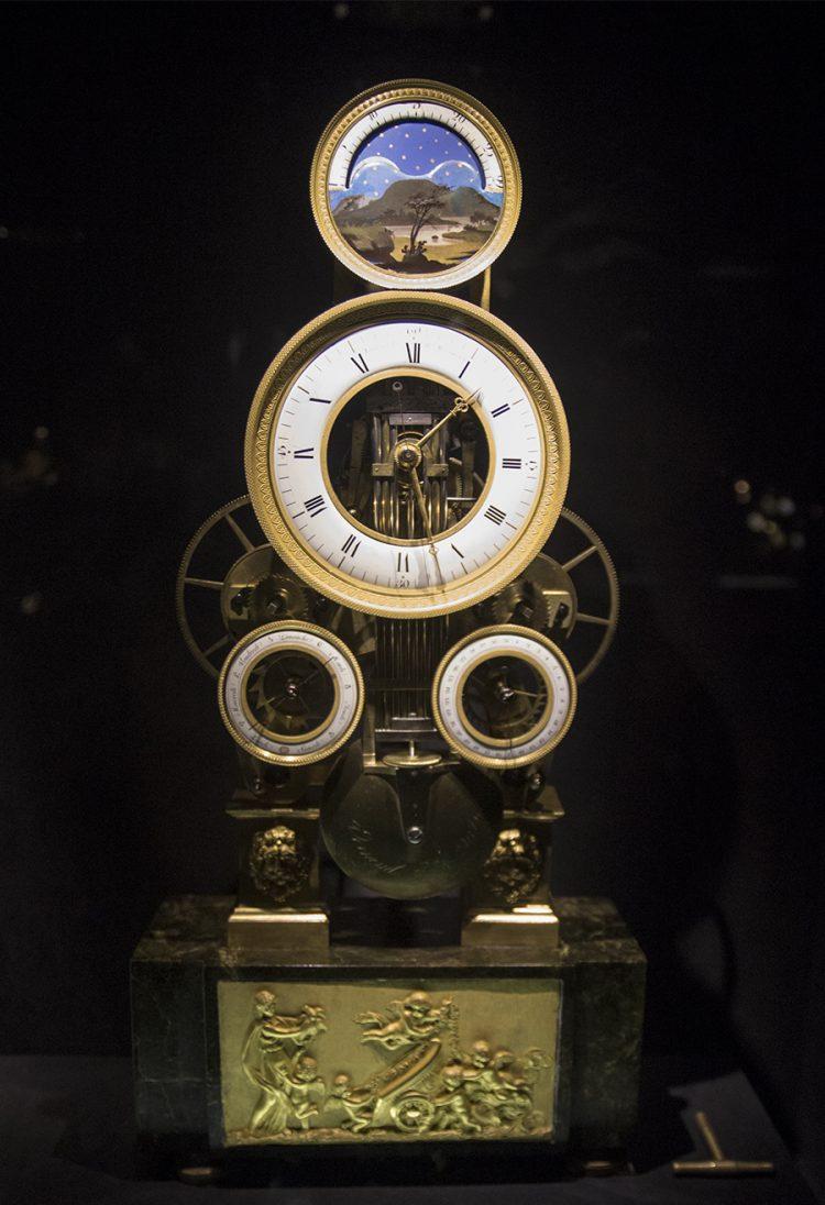 שעון אסטרונומי המציג את מצב הכוכבים ומיקומם ביחס לכדור הארץ או השמש