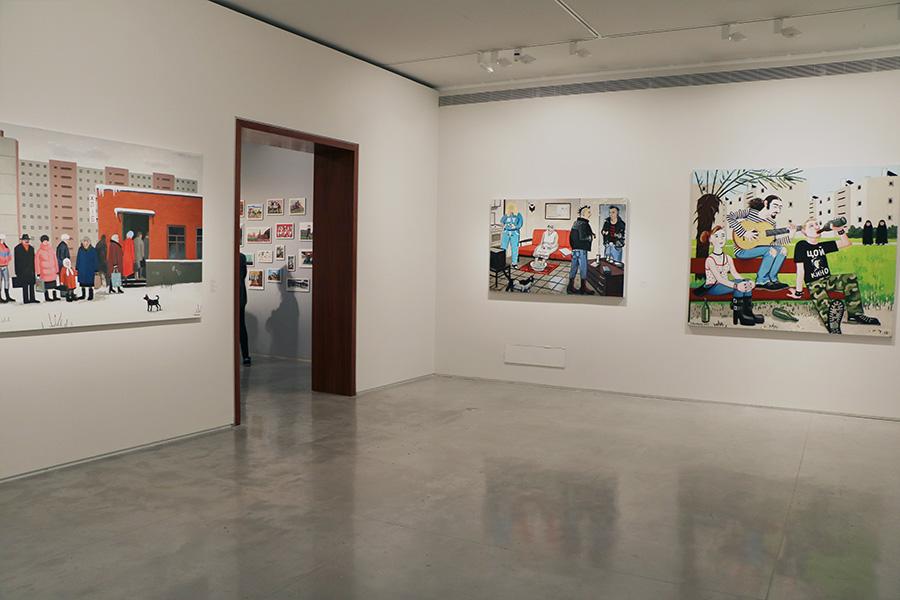 חלל התערוכה. בתמונה ניתן לראות את העבודות: