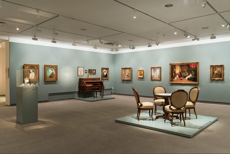אולם התערוכה ״הבורגנים״, צילום אלי פוזנר, מוזיאון ישראל, ירושלים