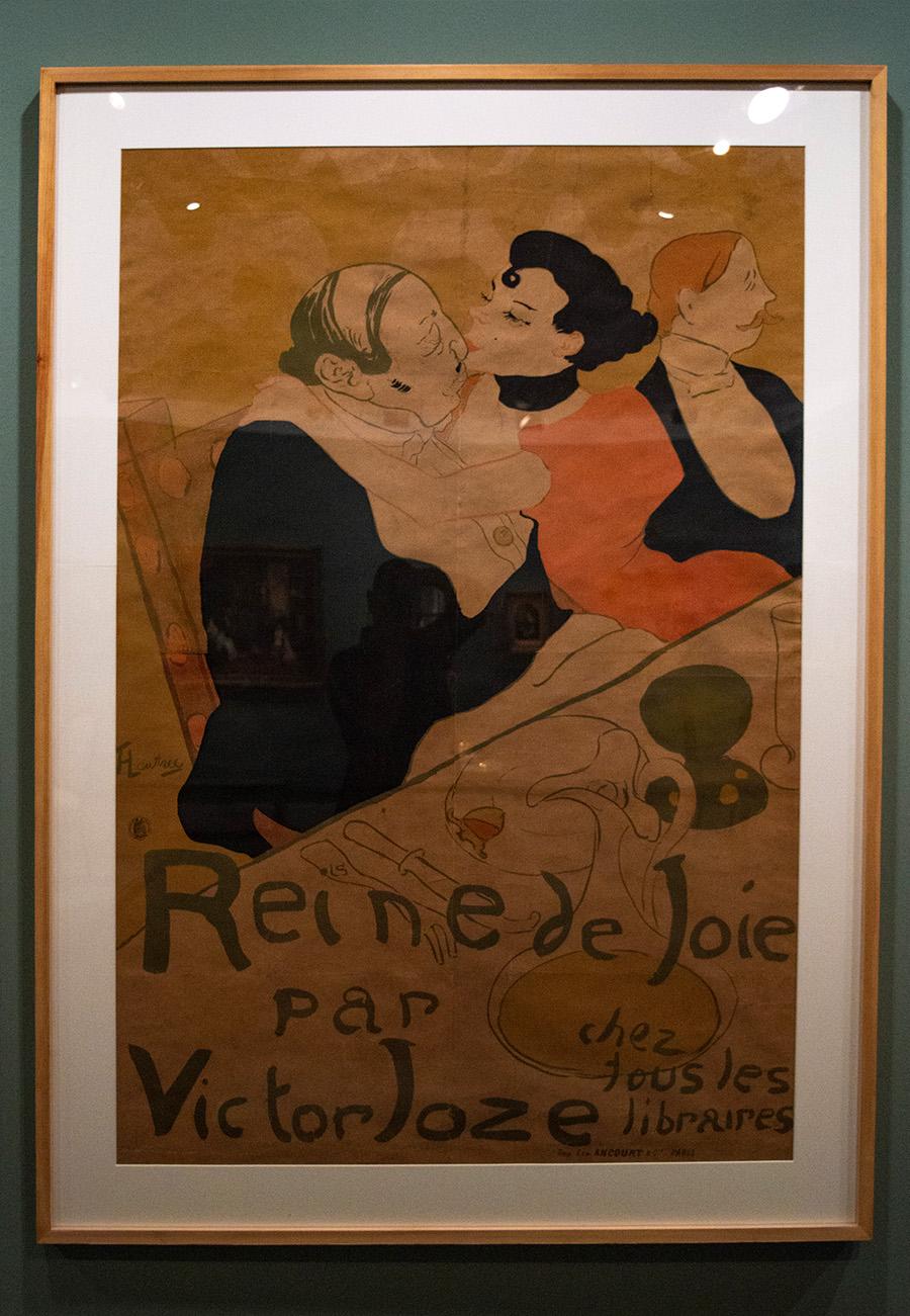 אנרי דה טולוז לוטרק, צרפתי, 1864-1901, כרזה ל״מלכת התענוגות״ מאת ויקטור ז׳וז, הדפס אבן צבעוני, 1892