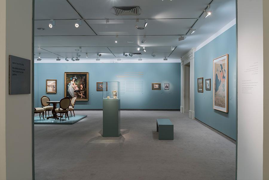 הכניסה לתערוכה, אולם דלה ופרד וורמס, צילום אלי פוזנר, מוזיאון ישראל, ירושלים