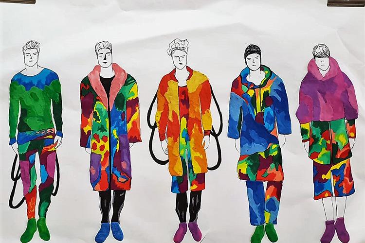 גברים בצבעי הקשת