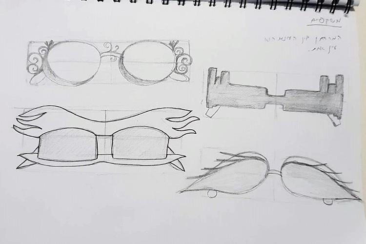 סקיצות של משקפיים