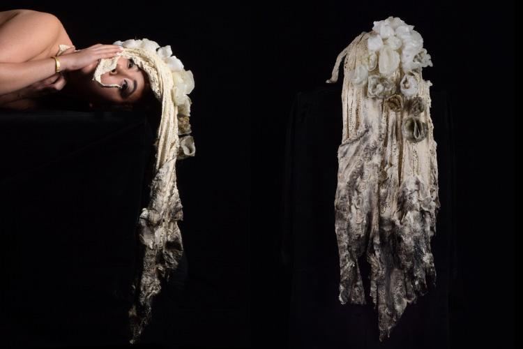 מעטפת הראש של הילה שרון, בהנחיית מאיה טופול ושרון אלה. צילום: הילה שרון