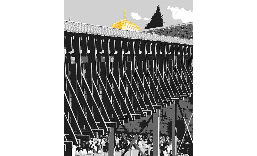 פריים מתוך סרט האנימציה שיצר המאייר דוד פולונסקי. צילום: שיתוף רשתות מוזיאון תל אביב לאמנות, הדס שפירא יחסי ציבור
