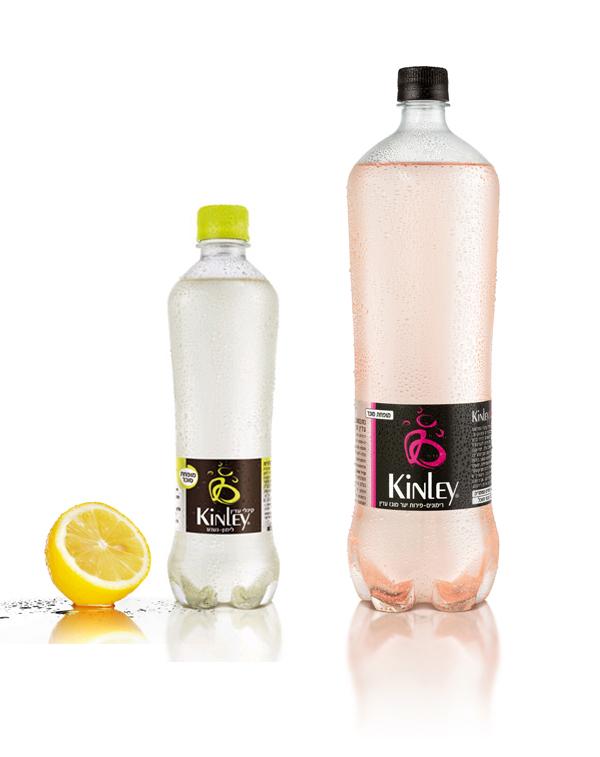 בקבוק Kinley-Soda-סודה בטעמים עבור החברה המרכזית למשקאות. עוצב במסגרת עבודתו של זיו בוצר בחברת-Tamooz בבעלות עמית אביגדור ואיל שמואלי.