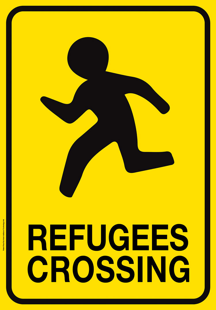 רותם פינס פז - refugees crossing