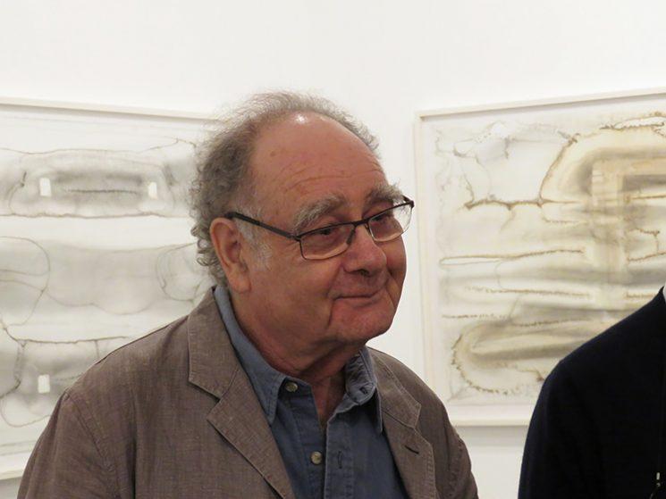 מיכה אולמן בפתיחת התערוכה. צילום: ידידיה איש שלום