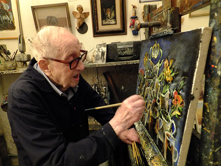 ברגנר שוקד על ציור חדש