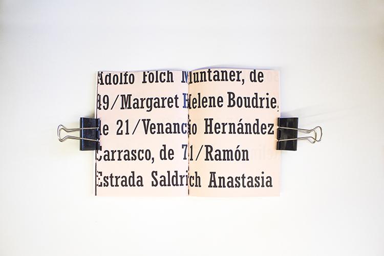 עבודה בנושא רוצחים סידרתיים בברצלונה מתוך הסדנה. צילום: נוי כהן גל