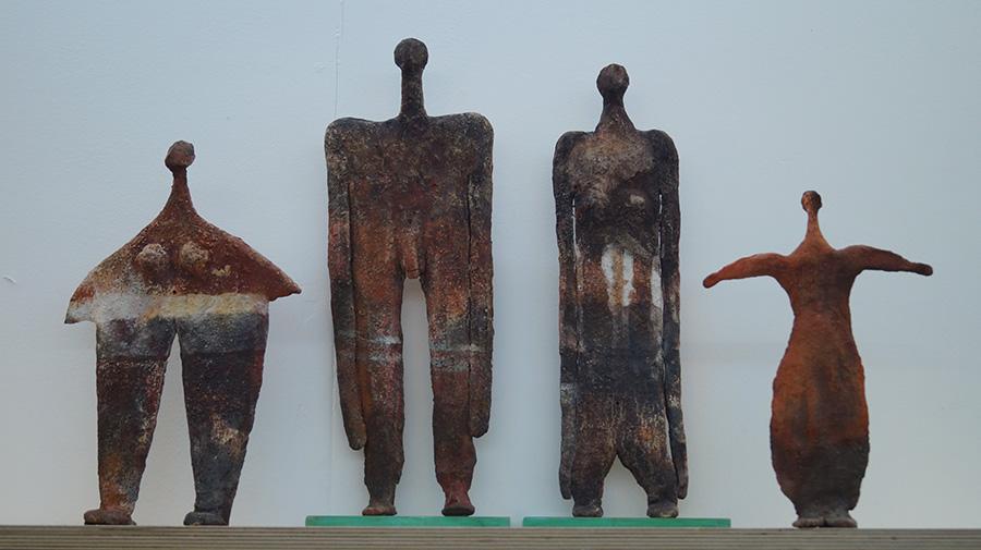 חלק מסדרת הפסלים של גרשון הראל. צילום: אריאלה מרטינז