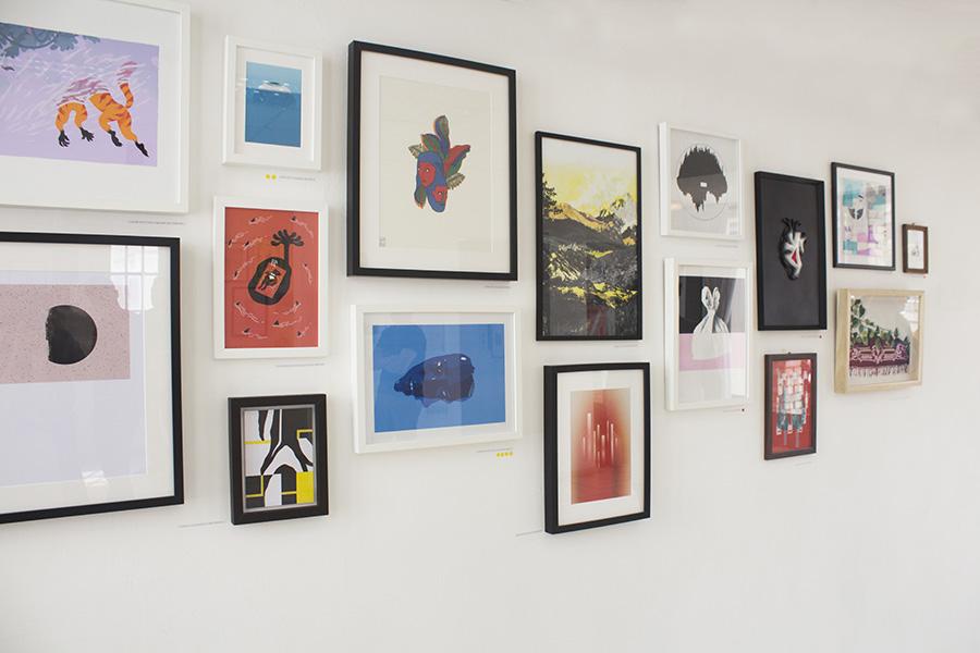עבודות שהוצגו למכירה בתערוכה