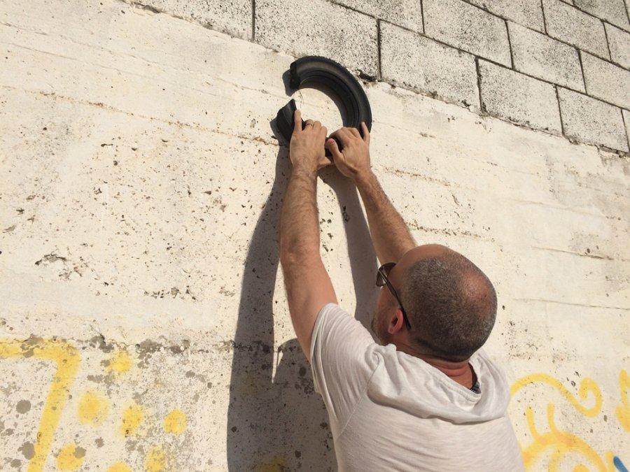 אזור הסף הקיר בקצה המערבי של ג'סי כהן, מגיש: הראל חובר. קיר