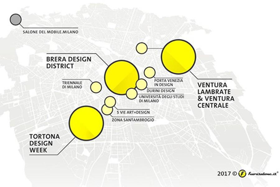 מפת התערוכה SALONE DEL MOBILE