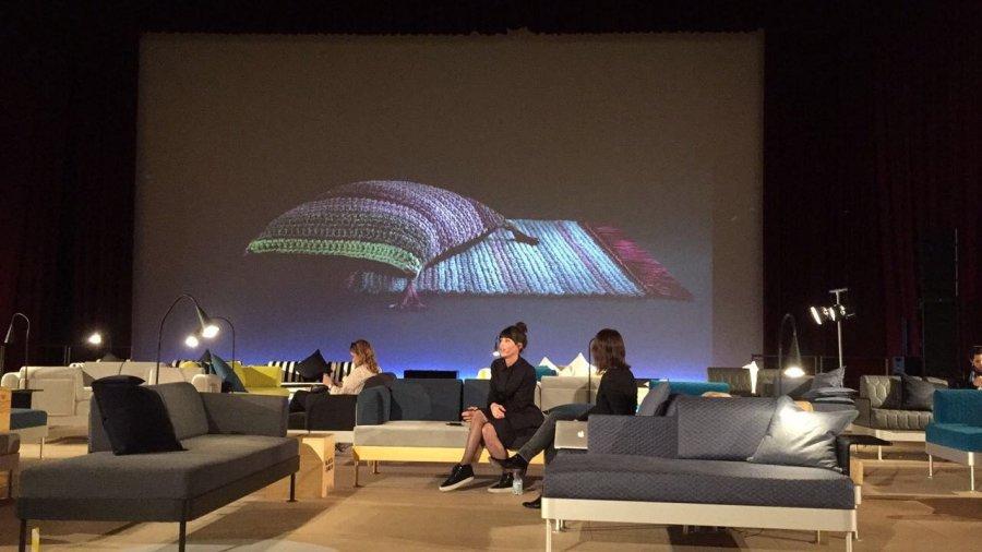 הרצאה שלנו באולם במילאנו. צילום: אילון ערמון